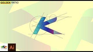 Adobe Illustrator كيفية إنشاء سهلة وسريعة الأبجدية ك التصميم باستخدام النسبة الذهبية