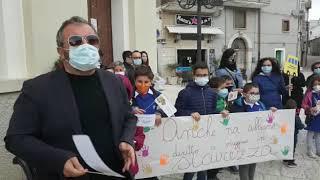 La protesta a Lupara: l'intervento di Andrea Di Paolo
