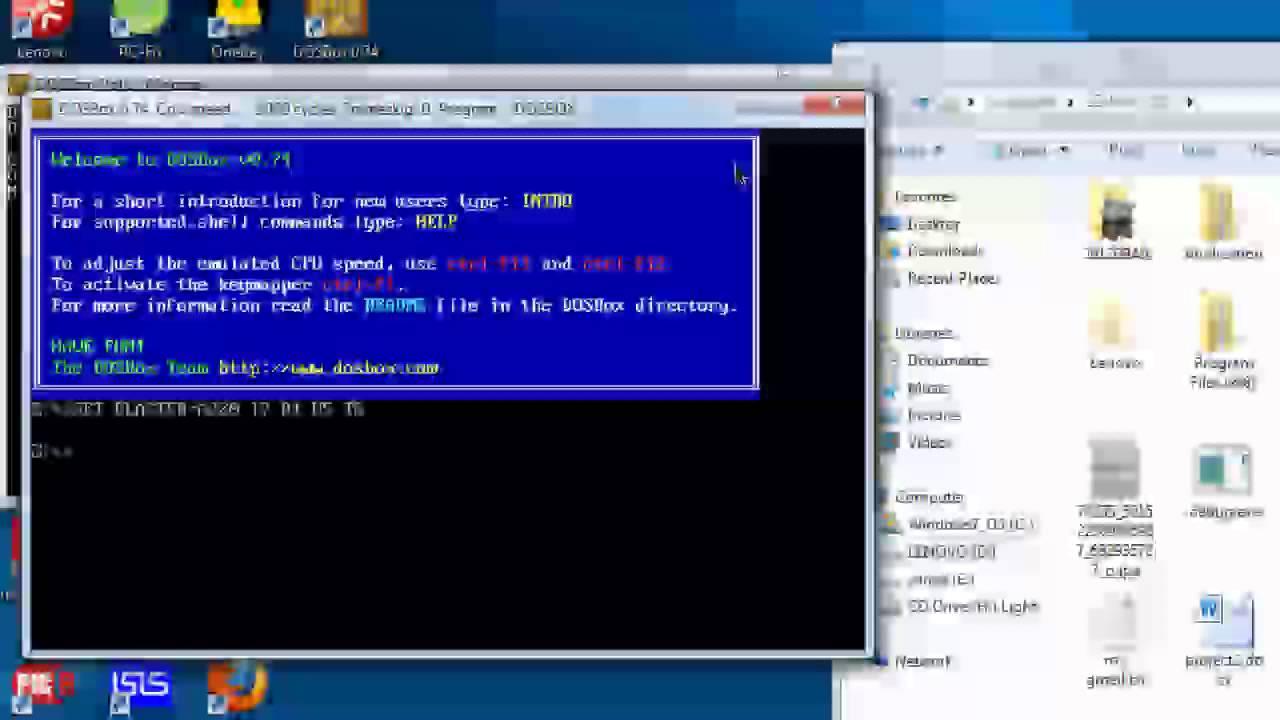 Running debug exe on a 64-bit windows (64x system) using DosBox