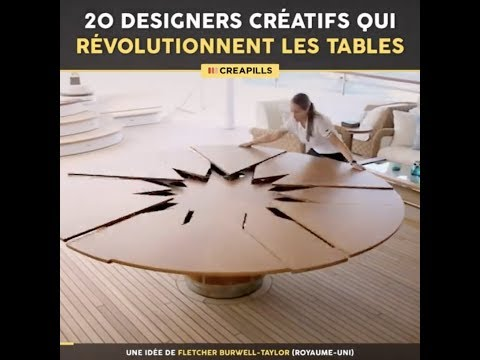 20 designers créatifs qui révolutionnent les tables