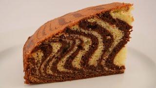 Пирог Зебра(Очень вкусный пирог Зебра. Ничего нового, но хотелось бы напомнить. По такому рецепту пеку часто, и всегда..., 2016-03-14T07:32:52.000Z)