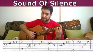 Fingerstyle Tutorial: Sound of Silence - Guitar Lesson w/ TAB