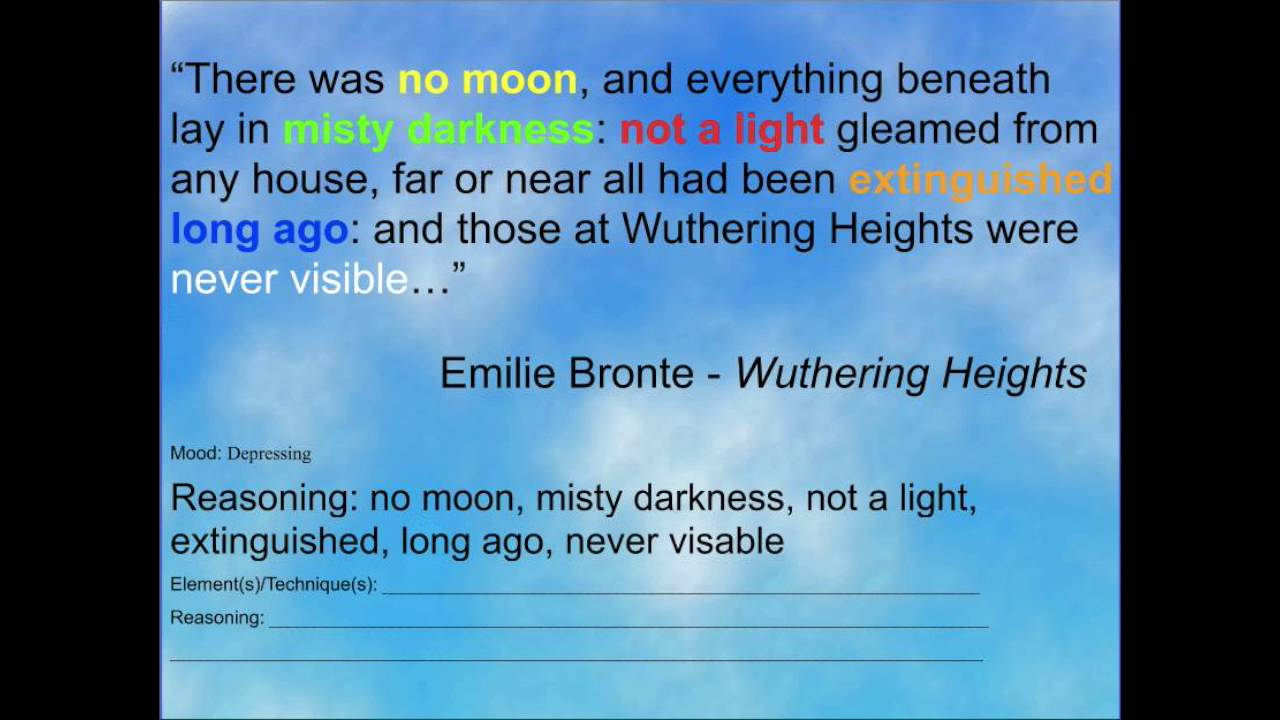wuthering heights tone