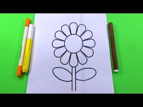 Đồ chơi trẻ em – Tranh tô màu hình bông hoa hướng dương – Toys for Kid