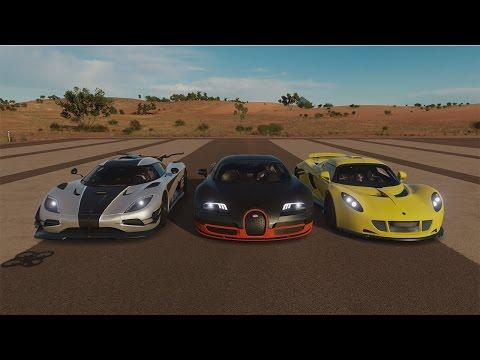 Bugatti Veyron Super Sport vs Hennessey Venom GT vs Koenigsegg One:1 | Forza Horizon 3