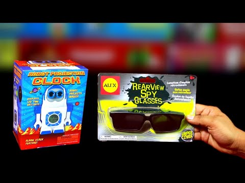 2-cool-gadgets,-spy-glasses-&-robot-clock,-unboxing-&-review