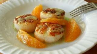 Food Wishes Recipes - Seared Scallops With Jalapeno Vinaigrette And  Orange Supremes