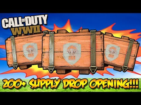 *NEW* 1000+ WW2 SUPPLY DROP OPENING!!! (Call of Duty WW2 Multiplayer Weapons)