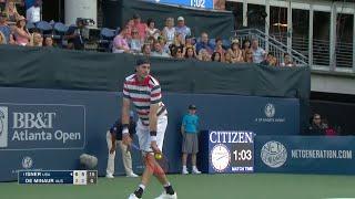 2018 BB&T Atlanta Open: John Isner Defeats Alex De Minaur