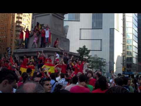 Spain World Cup Celebrations in Columbus Circle, New York