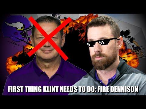 First Thing New Vikings OC Klint Kubiak Needs to Do: Fire OL Coach Rick Dennison 🔥🔥🔥