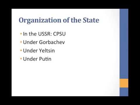 Russia's Political Structure and Executive Branch