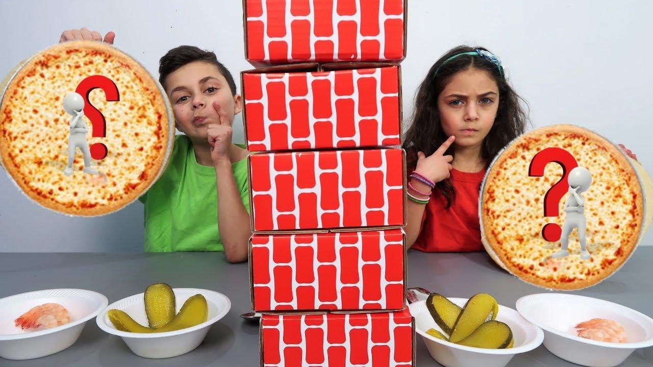 Twin Telepathy Pizza Challenge Family Fun Youtube