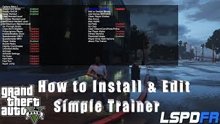 How To Install & Edit (SIMPLE TRAINER) GTA 5