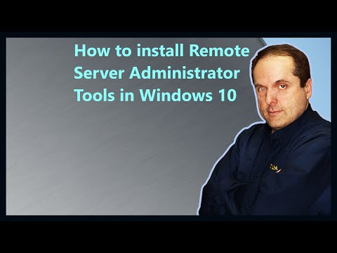 How To Install Remote Server Administrator Tools In Windows 10
