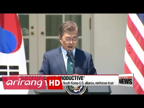 President Moon's trip to U.S. reaffirms South Korea-U.S. alliance, recovers trust