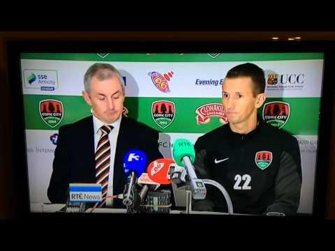 Liam Miller unveiled by Cork City FC. RTÉ 6.01 News
