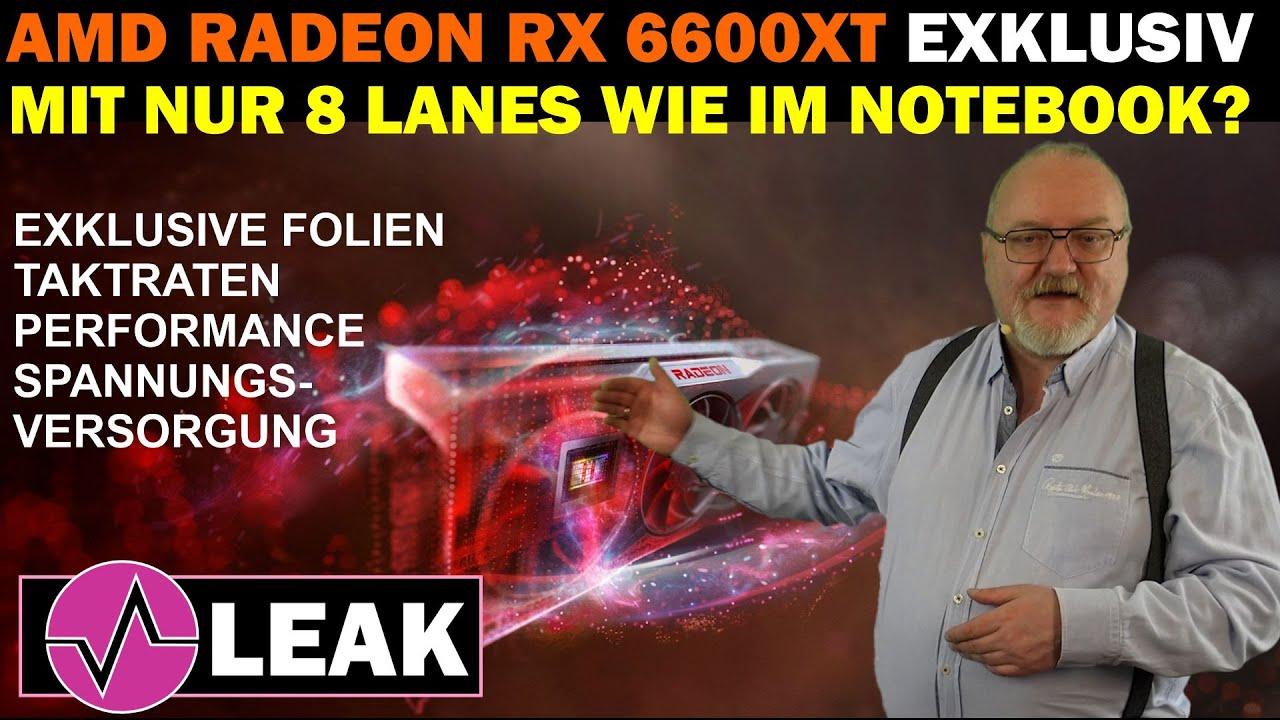 AMD Radeon RX 6600XT 8GB – Exklusive Details, interne Folien und ein mögliches Bandbreiten-Problem!