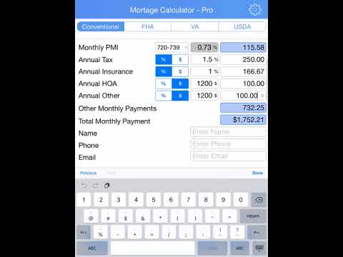 Mortgage Calculator for Realtors  Loan Officers - YouTube