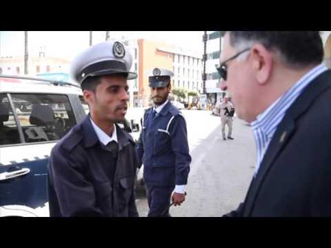 Al Sarraj walks in Tripoli
