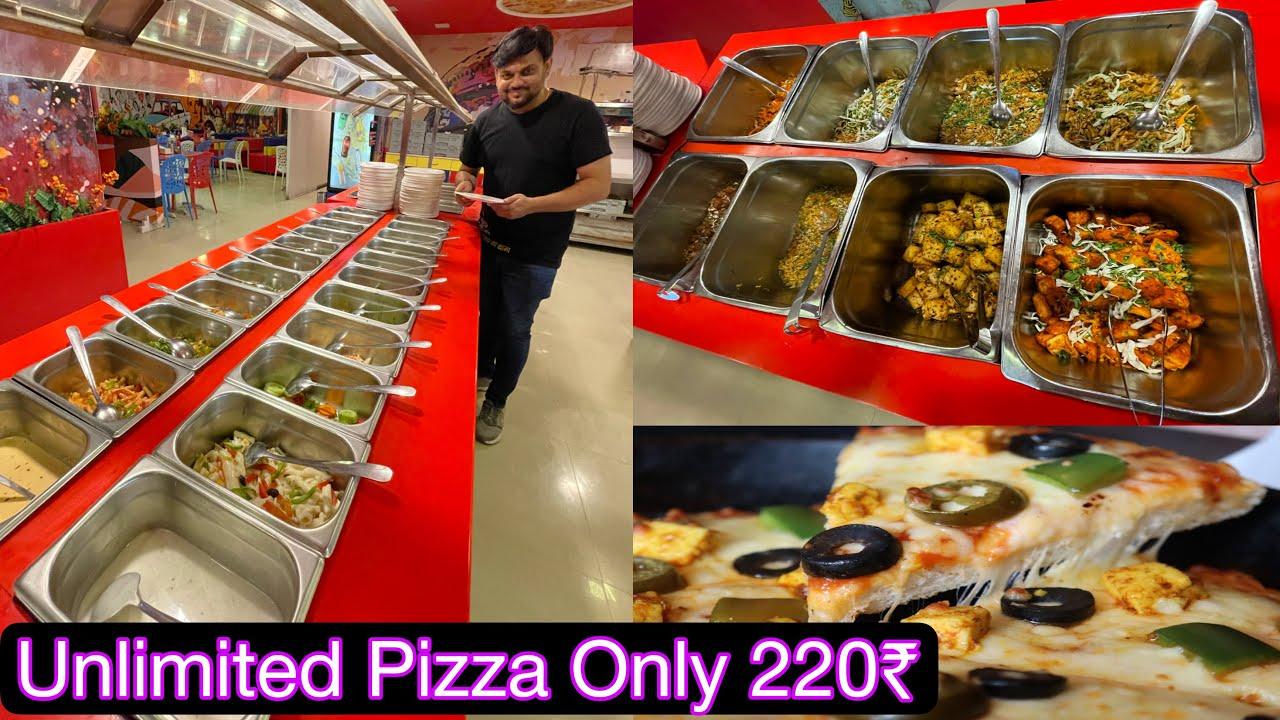 ફક્ત 220 ₹ મા 39 આઈટમ | Unlimited Pizza, Garlic Bread, Starter, Cold Drinks | Wooddy Jhones Pizza