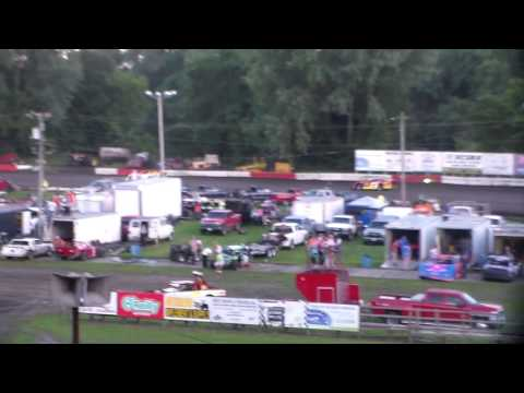 Late Model Heat 2 @ Hamilton County Speedway 07/23/16