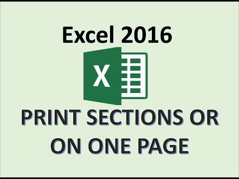 Excel 2016 - Preview And Print Versions And Sections Of A Worksheet