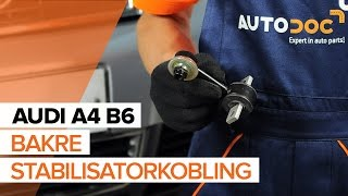 Hvordan bytte bakre stabilisatorkobling på AUDI A4 B6[BRUKSANVISNING]