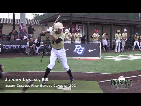 Jordan Lawlar Prospect Video, SS, Jesuit College Prep School Class of 2021