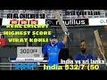 Virat kohli 306* of 145 Real Cricket 18