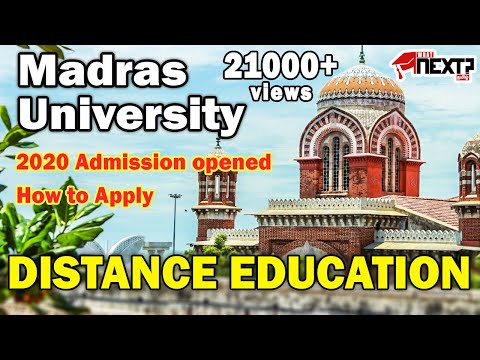 MADRAS UNIVERSITY DISTANCE EDUCATION   HOW TO APPLY   2020 ADMISSION   WhatNext-Tamil