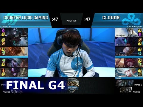 Cloud 9 vs CLG Game 4 | Finals NA LCS Regional Qualifier for S7 Worlds 2017 | C9 vs CLG G4
