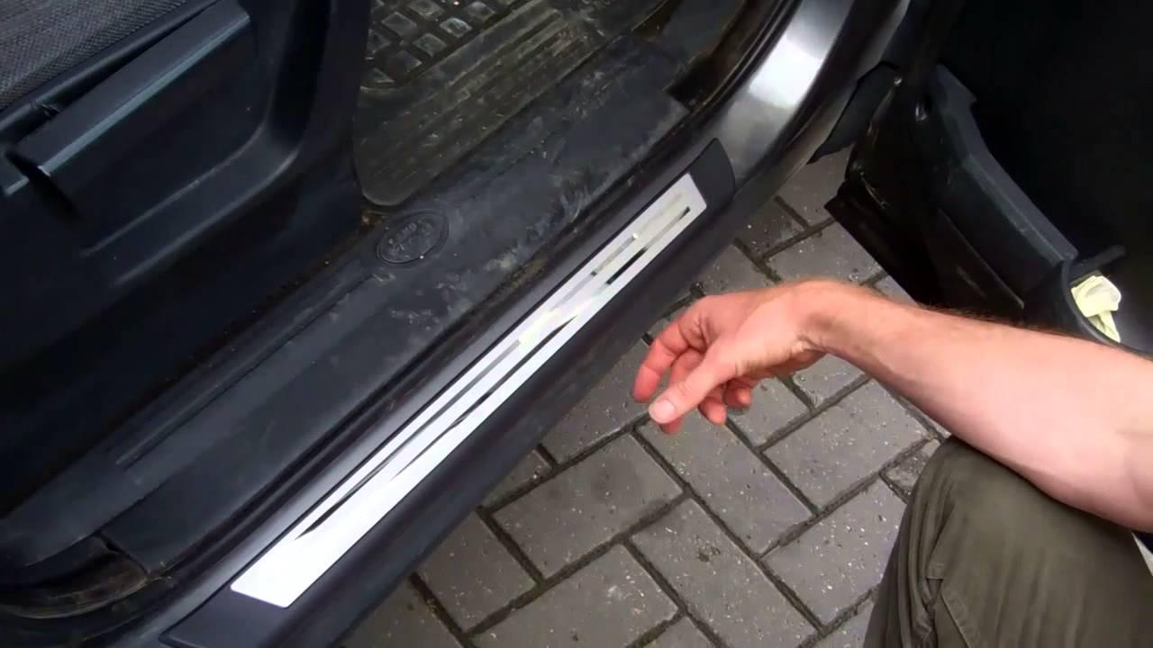 Land Rover Discovery 3 door step tread plates & Land Rover Discovery 3 door step tread plates - YouTube Pezcame.Com