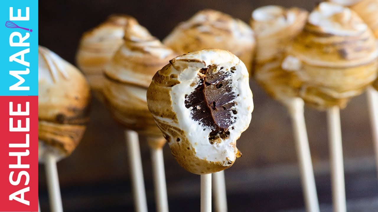 picture How to Make Smore Cake Ball Pops