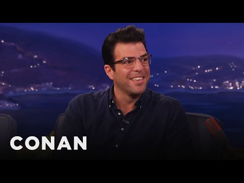 Zachary Quinto's Boyfriend Keeps His Musical Tastes Young   CONAN on TBS