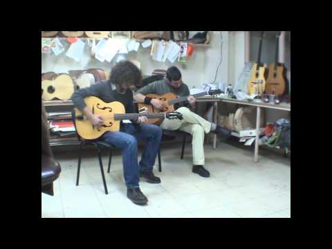 Leveller manouche guitar,S-hole - Blue Drag - Django