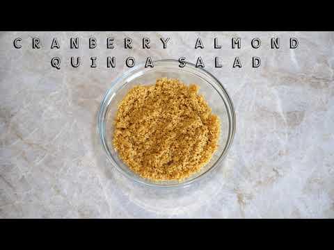 Cranberry Almond Quinoa Salad