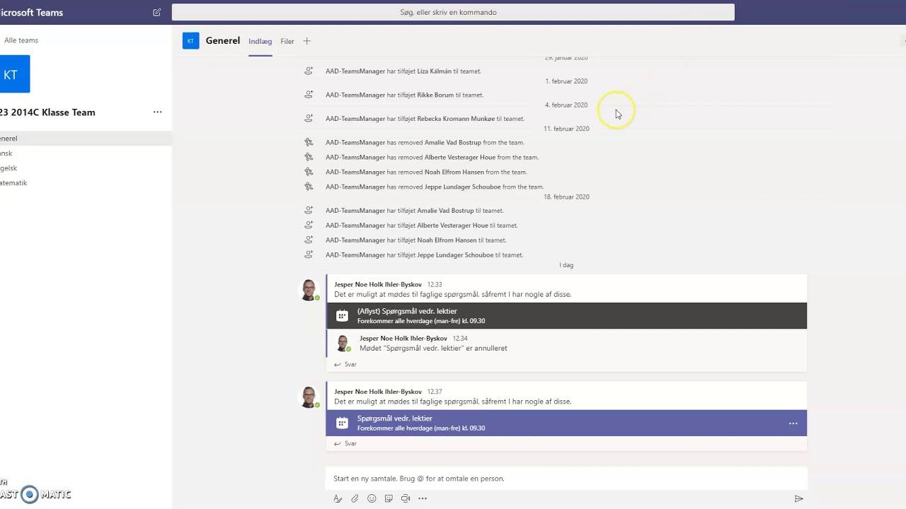 Opret gentagne møder med et team i Microsoft Teams