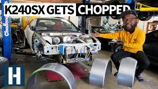 unpros-garage-honda-k24-powered-240sx-goes-under-the-knife-for-a-cage-tubbed-fenders