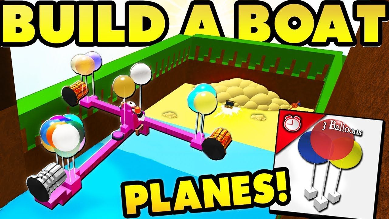 PLANES in Build a Boat! (with Controls!)