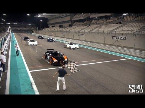 Bugatti Veyrons on Track at Yas Marina