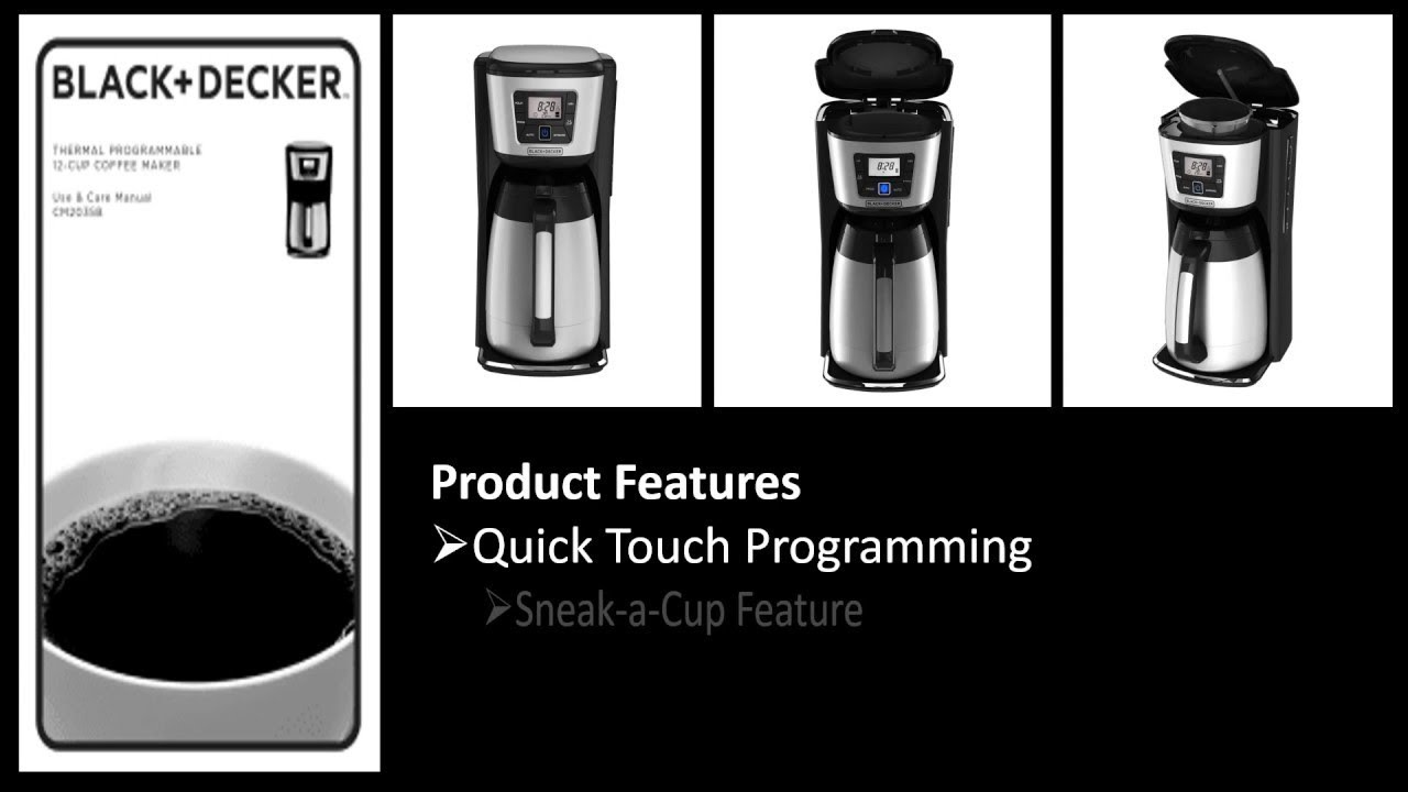 Black and decker 12 cup programmable - Black Decker 12 Cup Thermal Coffeemaker