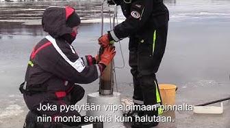 Harjavallan öljyvahinko, vesistövaikutustutkimuksen näyttteidenotto 25.1.2018