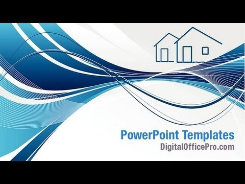Abstract Dream House Powerpoint Template Backgrounds