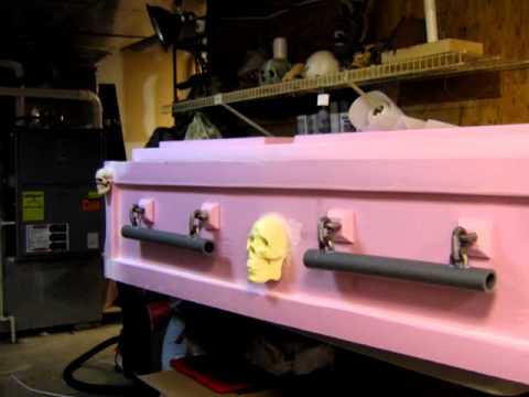 Denhaunt S Foam Casket Halloween Prop Youtube