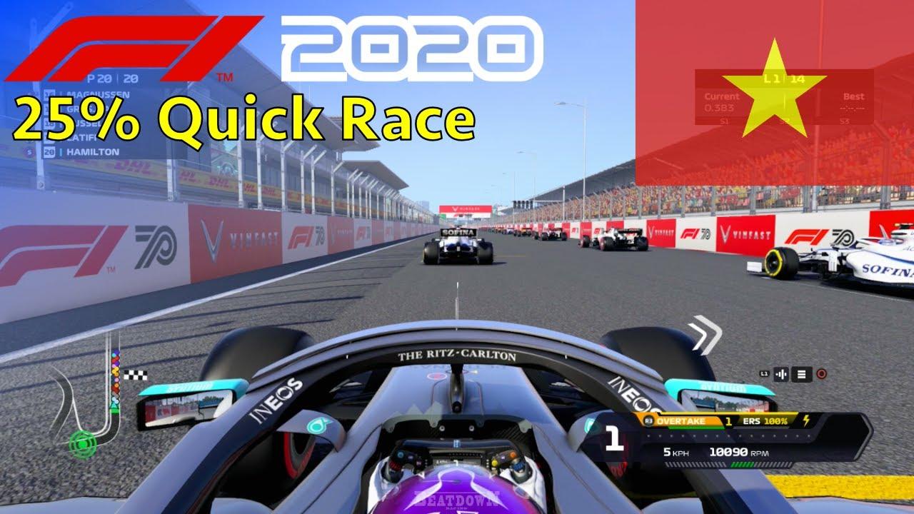 F1 2020 - 25% Quick Race at Hanoi Circuit, Vietnam in Hamilton's Mercedes