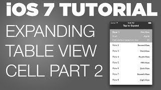 Ios 7 Sdk Tutorial: Expanding Table View Cell Part 2: Cell Buttons