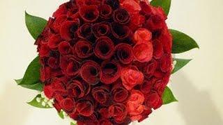 Мастер-класс (1 часть) Свадебный букет невесты из лепестков роз.