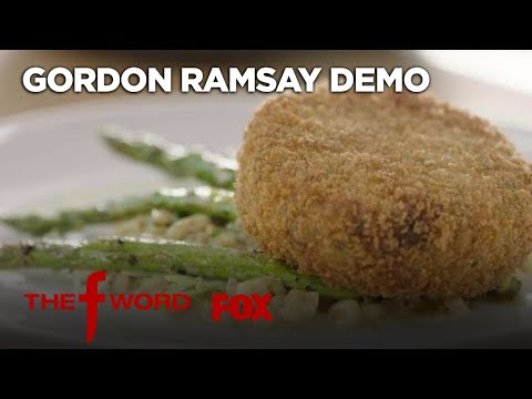 Gordon Ramsay Demonstrates How To Make Crab Cakes:  Version  Season 1  THE F WORD