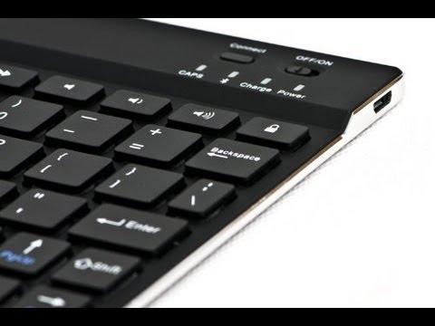 SHARKK Ultra Slim Wireless Bluetooth 3 0 Keyboard - YouTube
